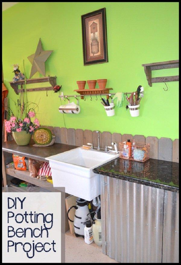 Potting Benches Part - 44: 9 DIY Potting Benches From Recycled Materials
