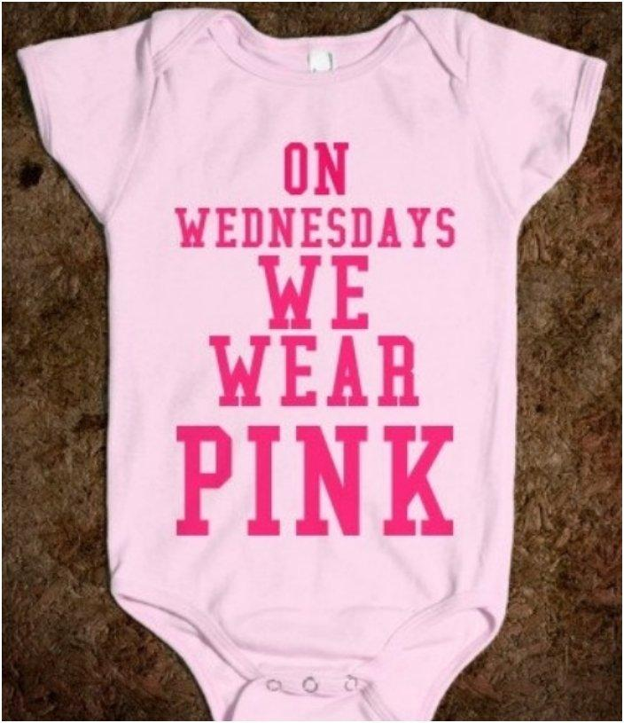 Mean Girls Quotes On Wednesdays We Wear Pink: 45 Funny Baby Onesies With Cute And [Clever Sayings]