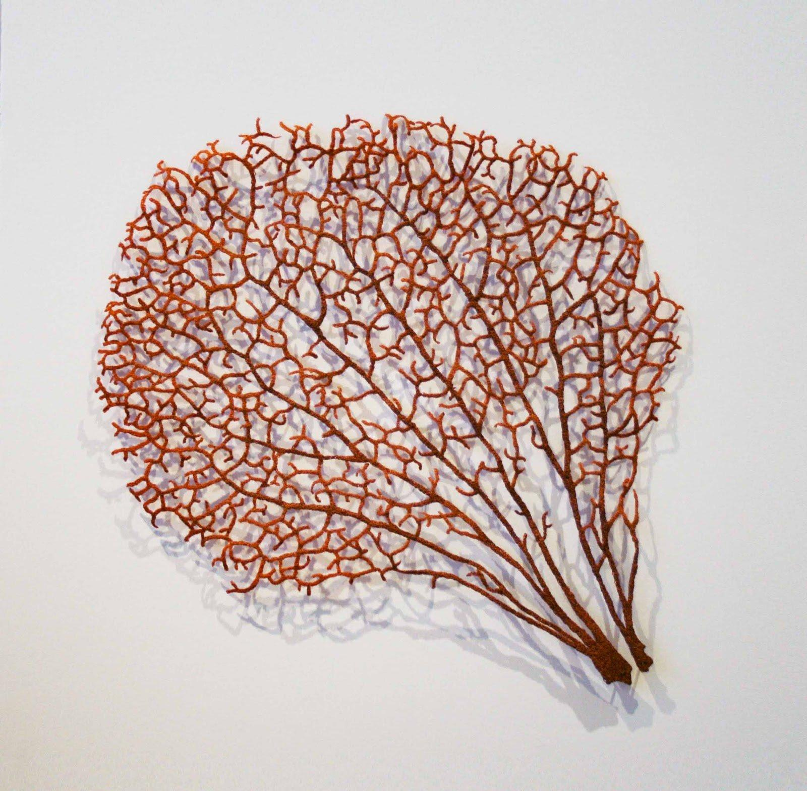 20 Stunning Embroidered Leaves That Look Like The Real Thing