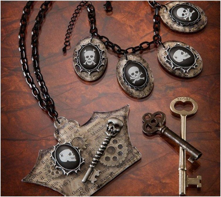 18 Last Minute Spooky DIY Halloween Jewelry