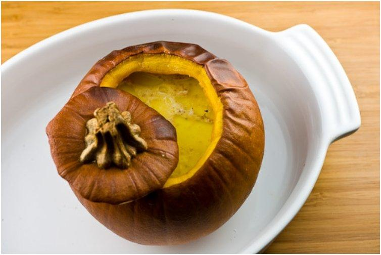 Pumpkin Stuffed With Vegetable Stew Recipe — Dishmaps