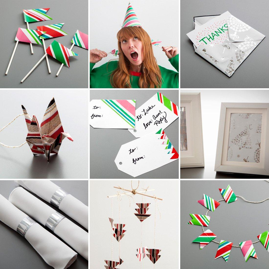 20 Ways To Reuse The Wrapping Paper Leftover From Christmas