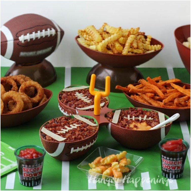 Beer Bacon Cheese Dip Footballs