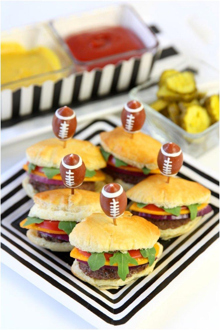 FOOTBALL PASTRY SLIDERS FOR THE BIG GAME