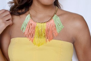 Make a Fringed Necklace