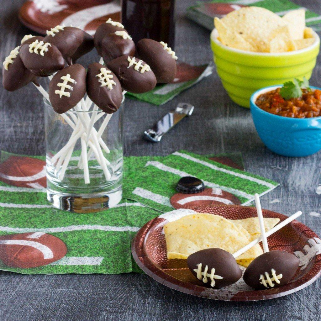 Super Bowl Football Cake Pops