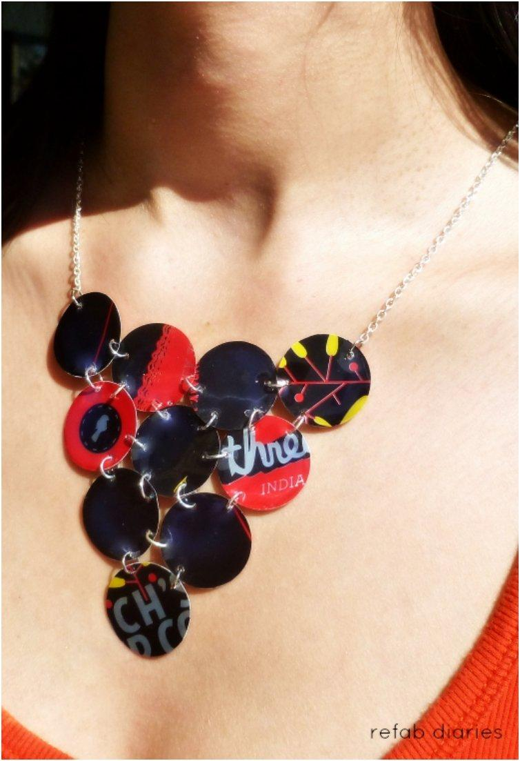 diy 16 lovely statement necklaces from things you probably