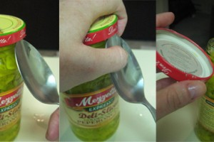8. Use spoon to open jars