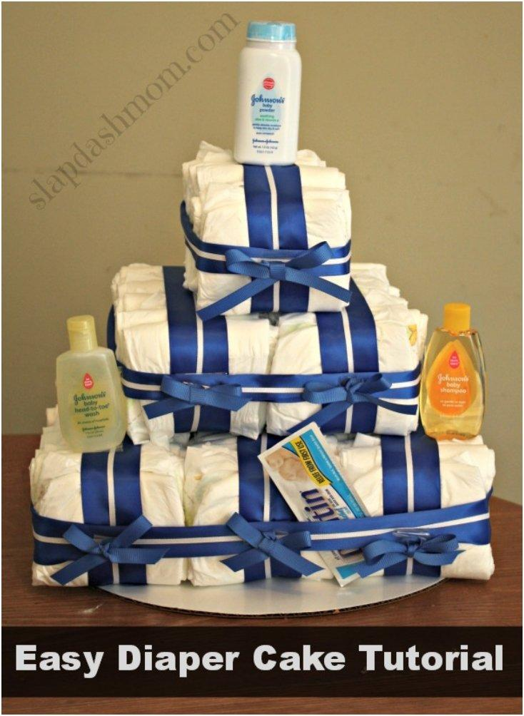 How To Make A Quick And Easy Diaper Cake