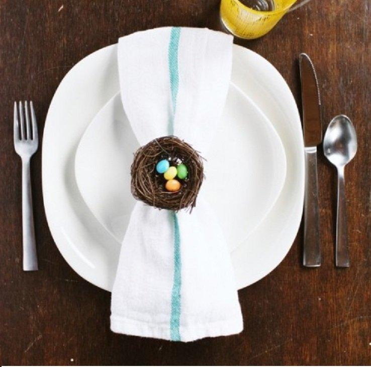 23 Napkin And Place Holder DIY's For A Fancier Easter Dinner Table