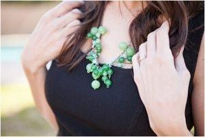 Lucky Green Necklace for St Patrick s Day