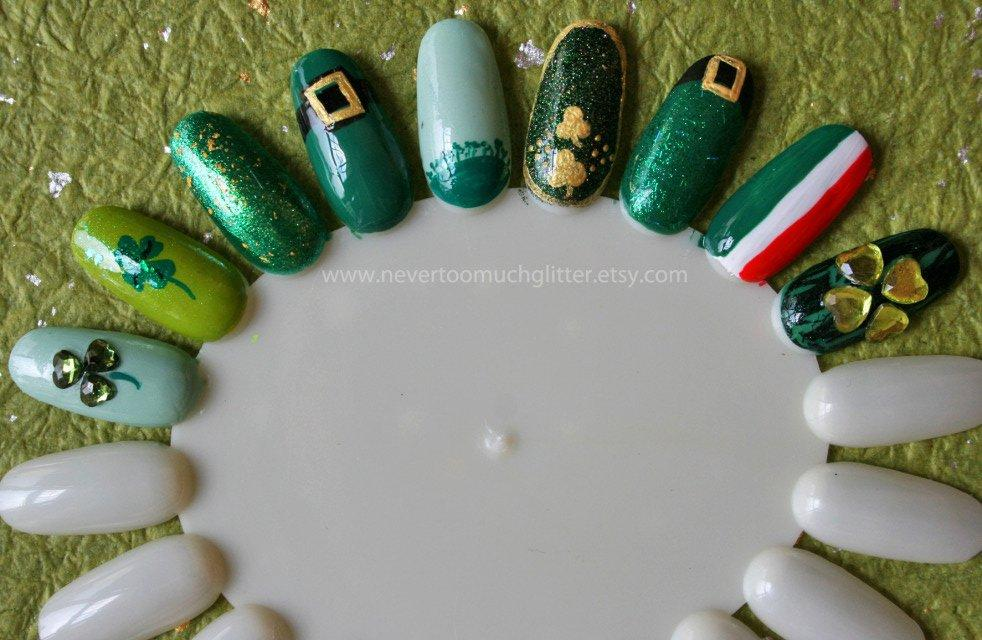 Add A Dash Of Stylish Green For St. Patty\'s Day With These 16 Nail ...