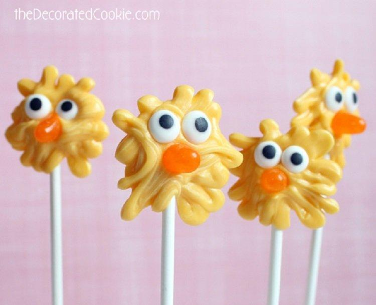 easy chick candy pops
