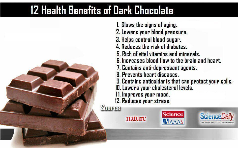 advantages of eating chocolates You feel good when you eat chocolate why chocolate is made mostly from  cocoa beans and sugar while sugar is not healthy, dark.