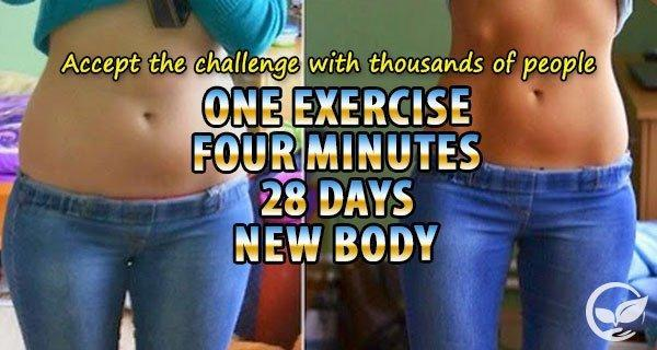 New sexy body by completing this 28 days 1 exercise challenge for Plank workout results