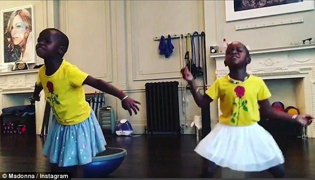 Madonna Posts Cute Video Of Her Twin Girls Stella And Esther Performing A Dance Routine!