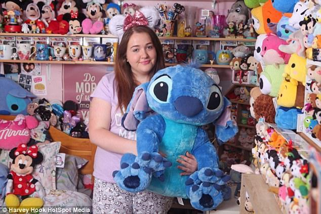 Meet The Disney Addict Who Spends $15,000 On Merchandise Including 1,000 Cuddly Toys!