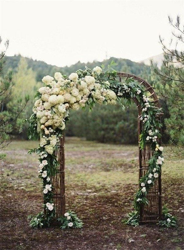 Wedding Arch Decoration Ideas With Flowers and Love