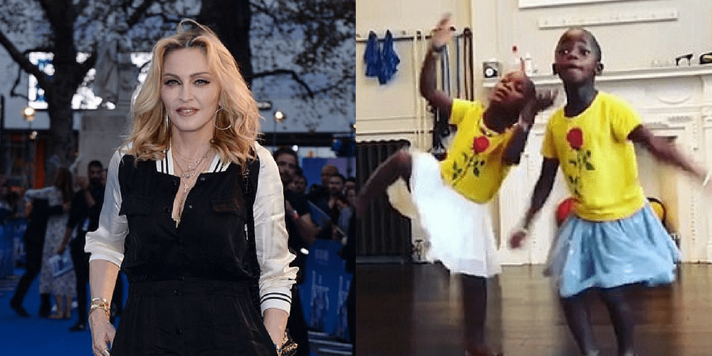 Image result for Madonna Posts Cute Video Of Her Twin Girls Stella And Esther Performing A Dance Routine!