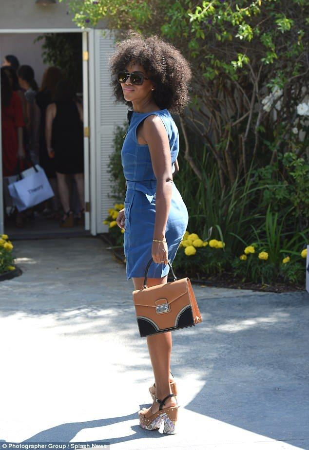 Kerry Washington Rocks Her Beautiful and Natural Afro At Exclusive Event