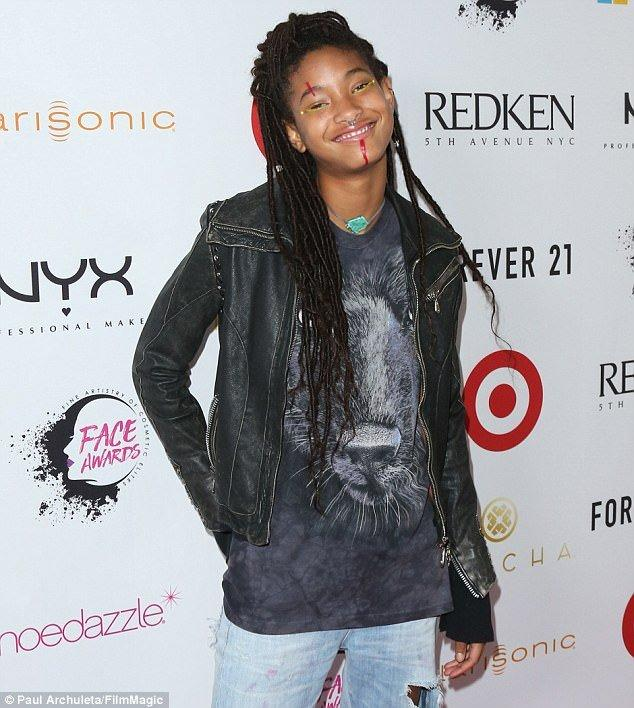 Willow Smith Debuts Waist-Length Faux Locs At The NYX Professional Makeup FACE Awards in LA