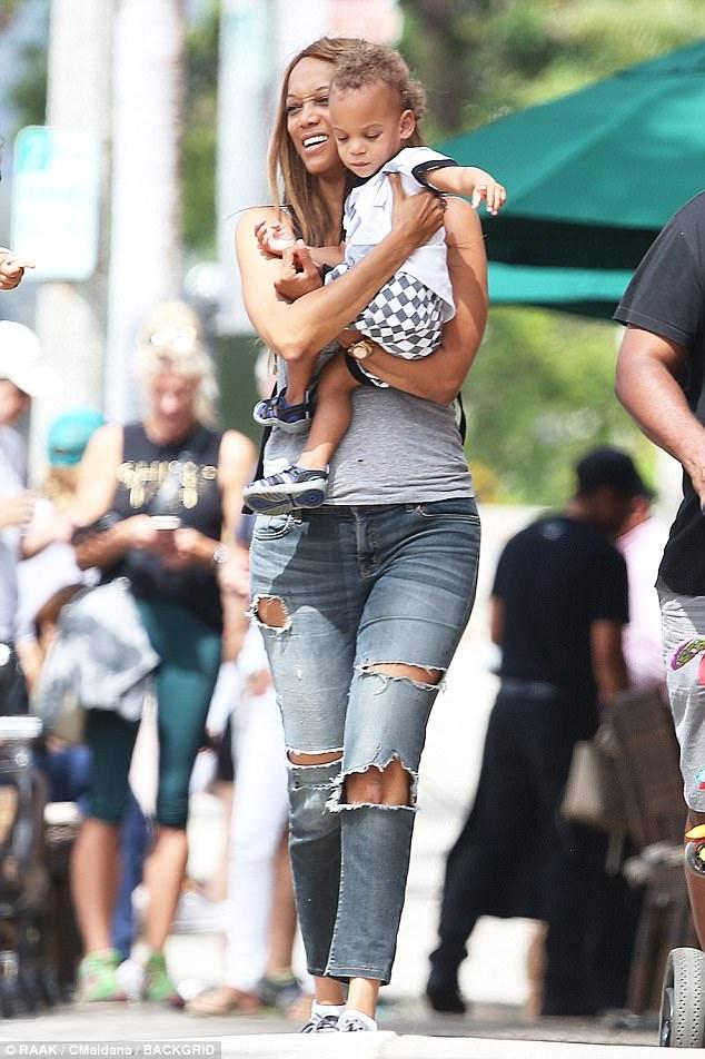 Tyra Banks Is Spotted Out With Her Adorable 2-Year-Old Son York!
