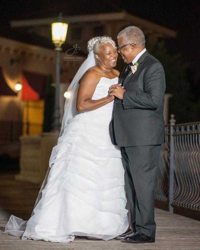 Senior Couple Officially Tie The Knot After Their Engagement Photo Went Viral