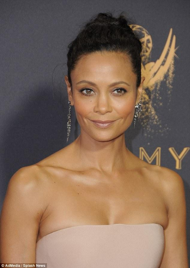 Thandie Newton Stuns In A Strapless Fairytale Ballgown As Her Glamorous Mom Nyasha Supports Her On The Emmys Red Carpet