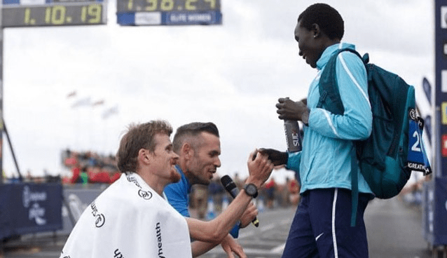 Runners Warm The Hearts Of Spectators During An After-Race Impromptu Proposal