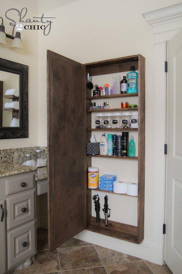 Bathroom Mirror Storage Case
