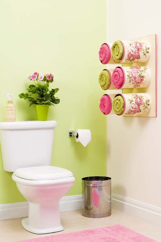 Tin Can Towel And Toilet Paper Roll Storage Ideas