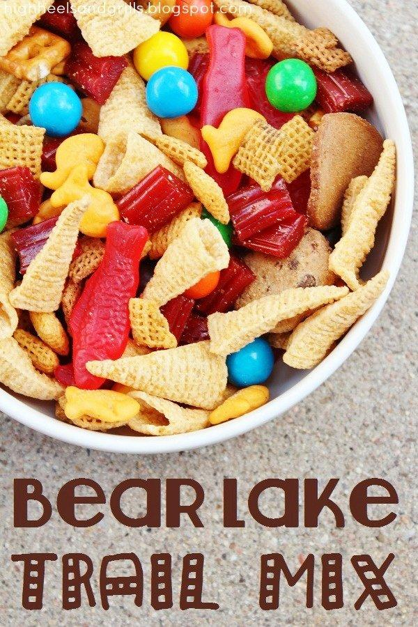 Bear Lake Trail Mix labeled