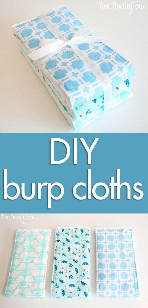 DIY Baby Onesies and Burp Cloths