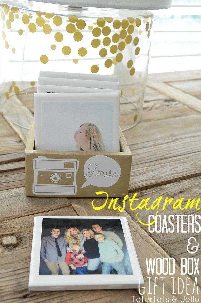 DIY Instagram Coasters & Wood Box Gift Idea