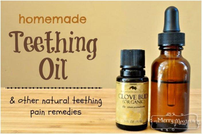 Homemade Teething Oil