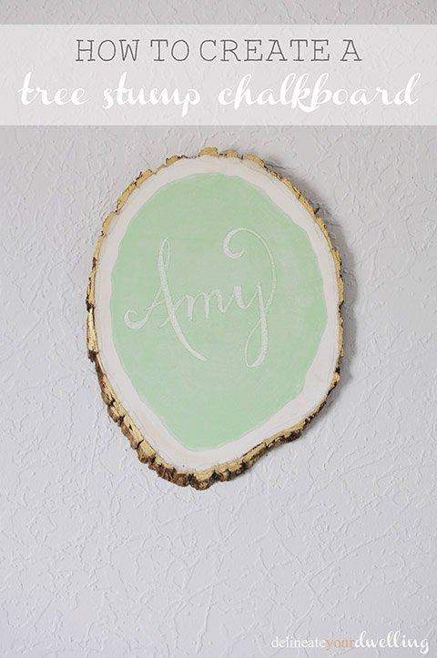 Tree Stump Chalkboard