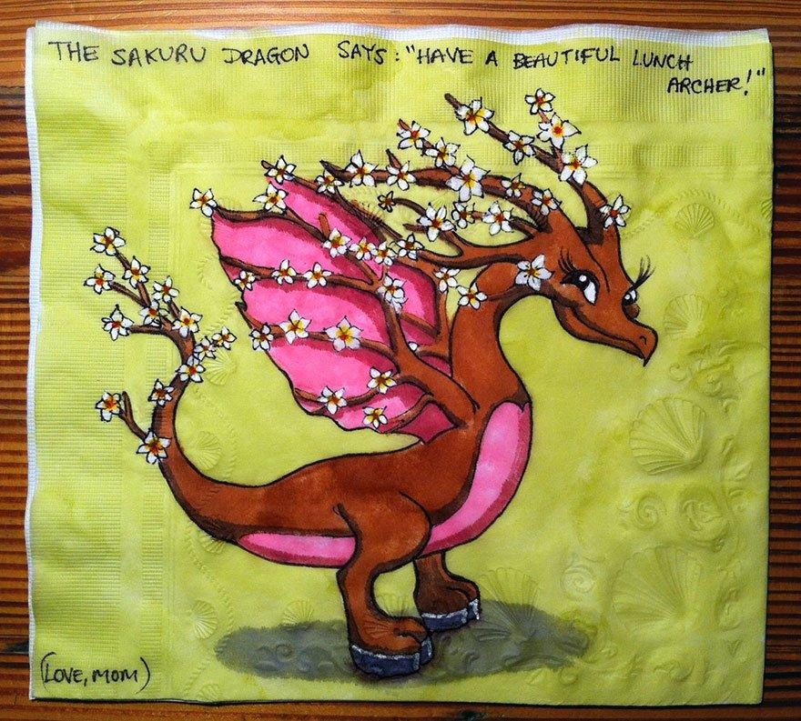 30 Fantastic Napkin Drawings From One Very Creative Mom