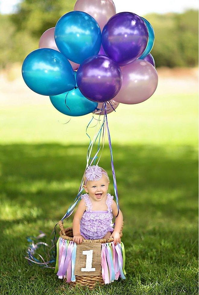 Top 22 Fun Ideas For Your Baby Girl's First Birthday Photo Shoot XF12