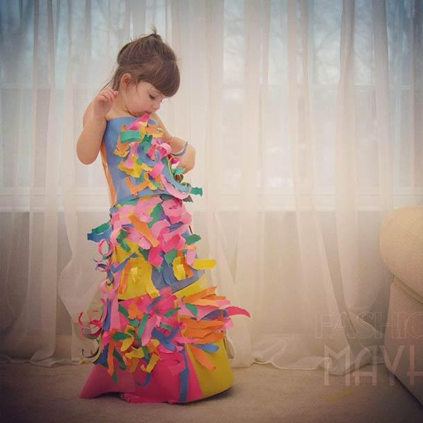 24 Amazing Paper Dresses From A 4-Year Old Fashion Designer