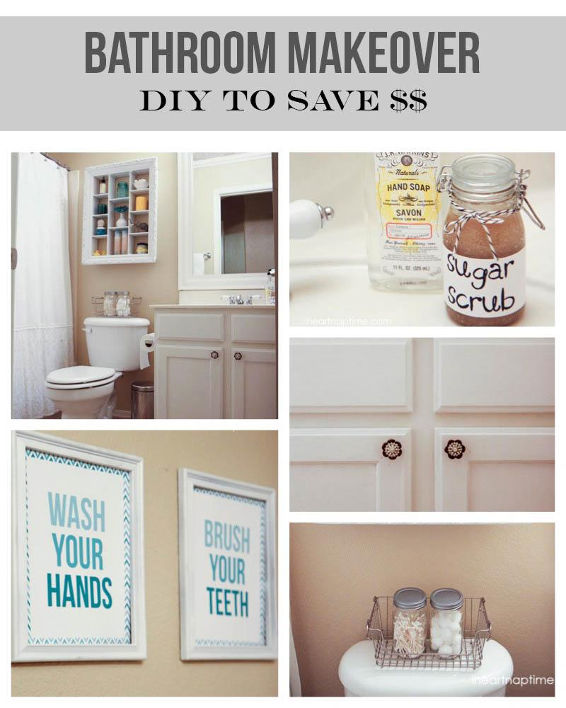 12 budget friendly diy remodeling projects for your bathroom for Diy bathroom ideas on a budget