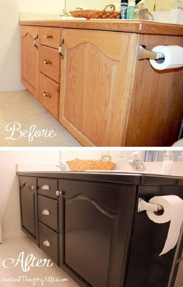 BATHROOM CABINETS MAKEOVER