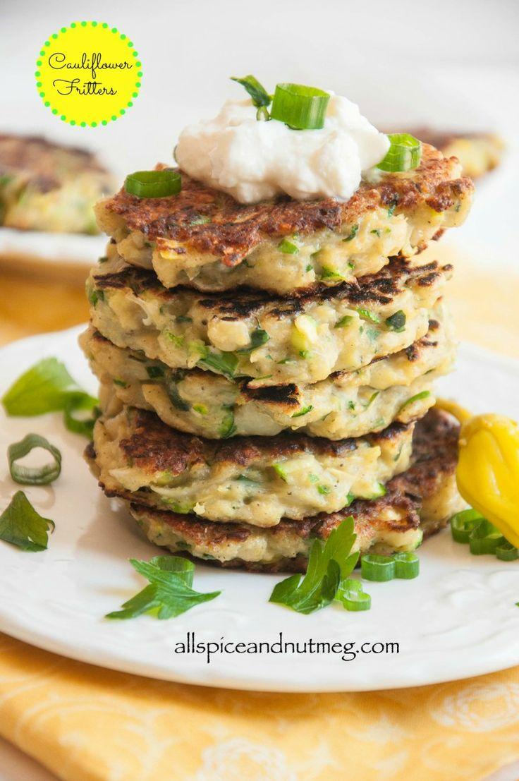 Cauliflower Fritters {with GF option}