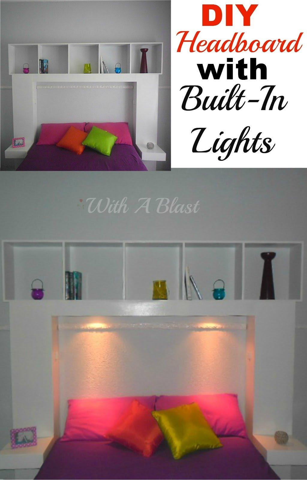 DIY Headboard with Built-In LightsP
