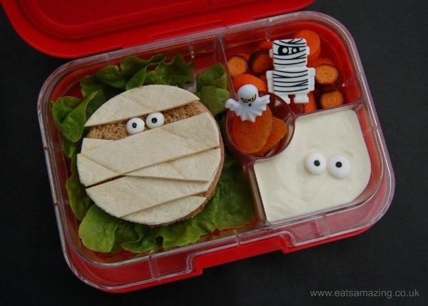 Eats-Amazing-UK-Mummy-Themed-Kids-Bento-Lunch-for-Halloween-with-fun-Mummy-Sandwich