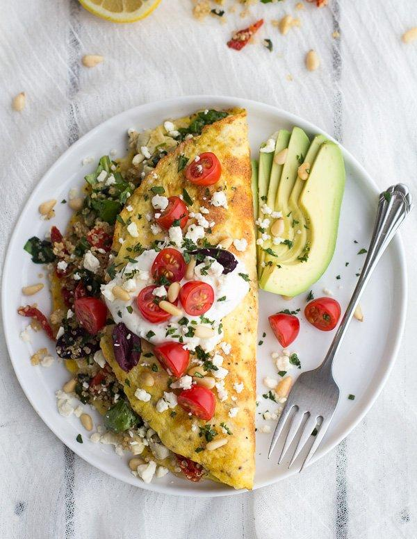 Greek-Quinoa-Dinner-Omelets-with-Feta-and-Tzatziki-17