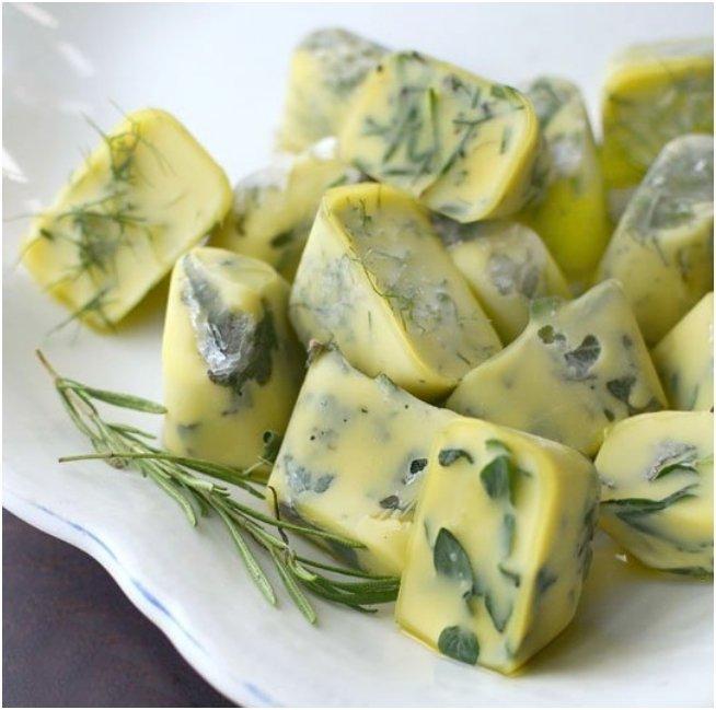 herbs in olive oil