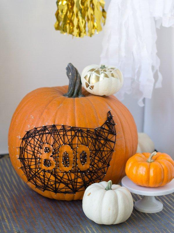 string and nail pumpkin