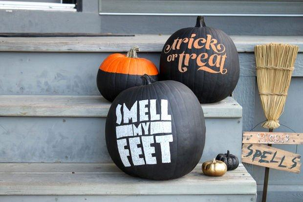 typography pumpkins