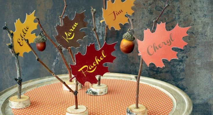 20 lovely last minute diy thanksgiving place cards - Thanksgiving Place Cards