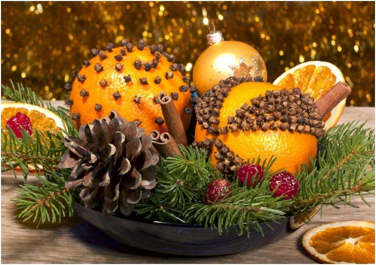 Orange-pomander-centerpiece
